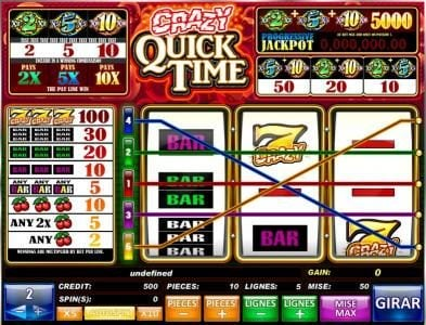 Play slots at Betchan: Betchan featuring the Video Slots Crazy Quick Time with a maximum payout of Jackpot