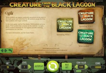 Viggoslots featuring the Video Slots Creature from the Black Lagoon with a maximum payout of $3,750