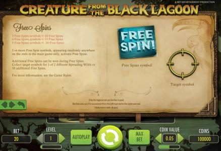 Napoli featuring the Video Slots Creature from the Black Lagoon with a maximum payout of $3,750