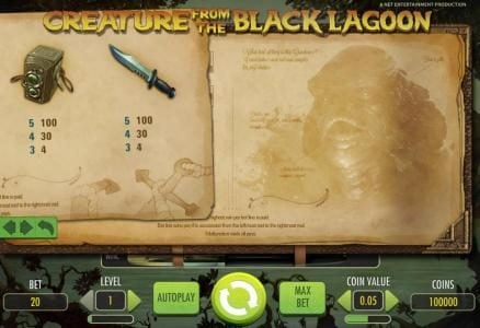 Freaky Vegas featuring the Video Slots Creature from the Black Lagoon with a maximum payout of $3,750