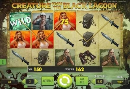Fruity Vegas featuring the Video Slots Creature from the Black Lagoon with a maximum payout of $3,750
