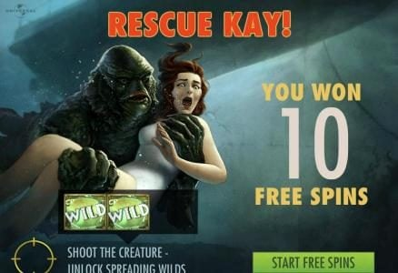 ReelTastic featuring the Video Slots Creature from the Black Lagoon with a maximum payout of $3,750