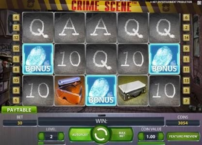 Wild Wild Bet featuring the Video Slots Crime Scene with a maximum payout of $7,500