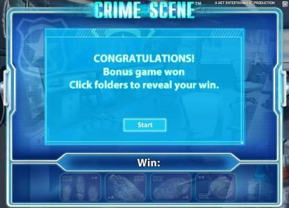 Zinger Spins featuring the Video Slots Crime Scene with a maximum payout of $7,500