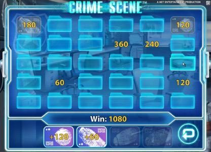 Casino-X featuring the Video Slots Crime Scene with a maximum payout of $7,500