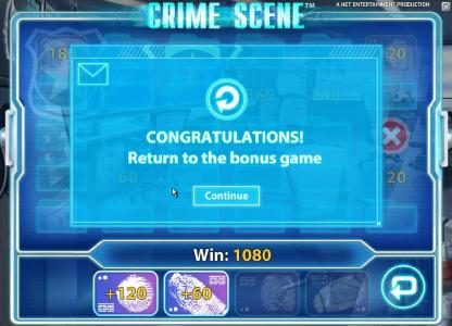 Freaky Vegas featuring the Video Slots Crime Scene with a maximum payout of $7,500
