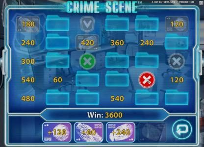 Vegas Spins featuring the Video Slots Crime Scene with a maximum payout of $7,500