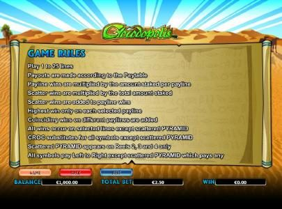 Play slots at Fluffy Spins: Fluffy Spins featuring the Video Slots Crocodopolis with a maximum payout of $30,000