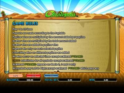 Joker Casino featuring the Video Slots Crocodopolis with a maximum payout of 1250x