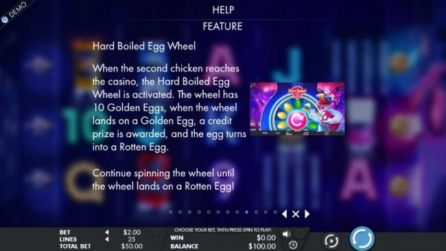 Hard Boiled Egg Wheel Bonus Feature