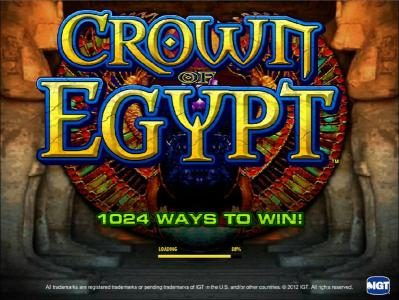 Play slots at Gala: Gala featuring the Video Slots Crown of Egypt with a maximum payout of $250,000