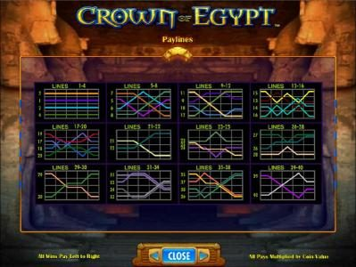 Vera&John featuring the Video Slots Crown of Egypt with a maximum payout of $250,000