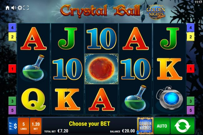 Crystal Ball Golden Nights Bonus :: Main Game Board