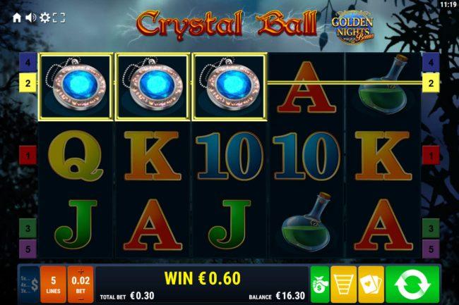 Crystal Ball Golden Nights Bonus :: A winning three of a kind