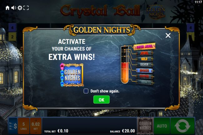 Crystal Ball Golden Nights Bonus :: Activate your chance of extra wins