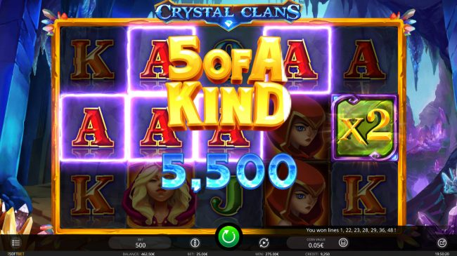 Betchan featuring the Video Slots Crystal Clans with a maximum payout of $200,000