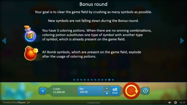 Crystal Land :: Bonus Game Rules