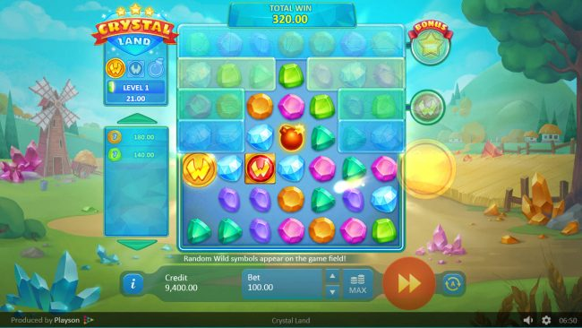 Crystal Land :: Multiple winning paylines