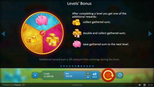 Crystal Land :: Levels Bonus
