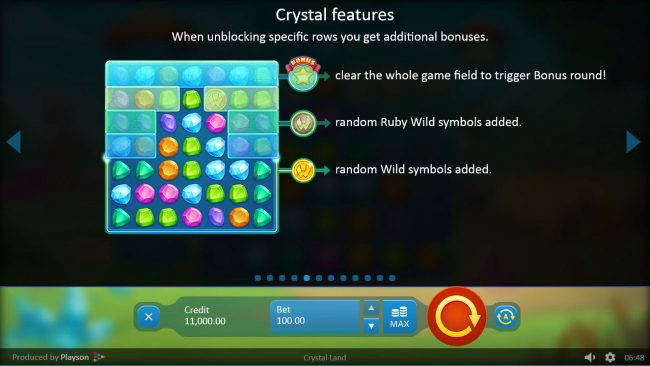 Crystal Land :: Crystal Feature Rules