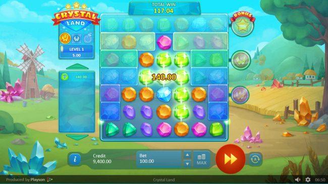 Crystal Land :: A 140 credit win
