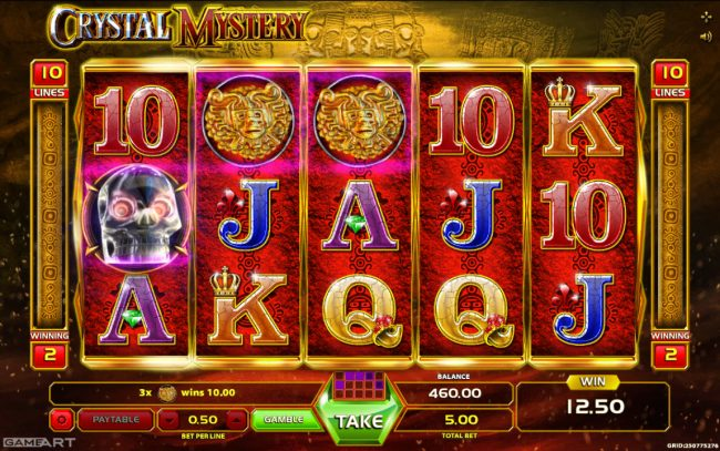 Play slots at Videoslots: Videoslots featuring the Video Slots Crystal Mystery with a maximum payout of $2,500
