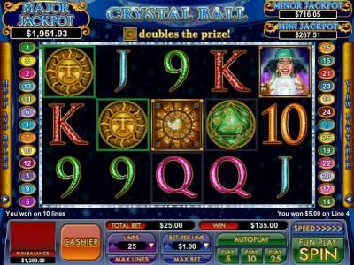 multiple winning paylines triggers a $135 jackpot