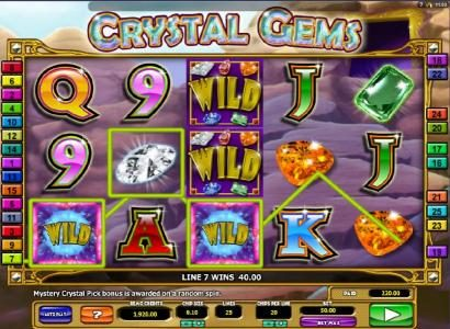 Play slots at Lucky Me Slots: Lucky Me Slots featuring the Video Slots Crystal Gems with a maximum payout of $4,000