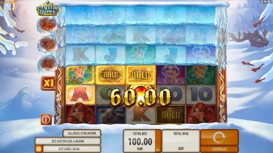 HippoZino featuring the Video Slots Crystal Queen with a maximum payout of $20,000