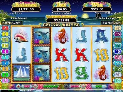 Free spins feature pays out a $522 jackpot