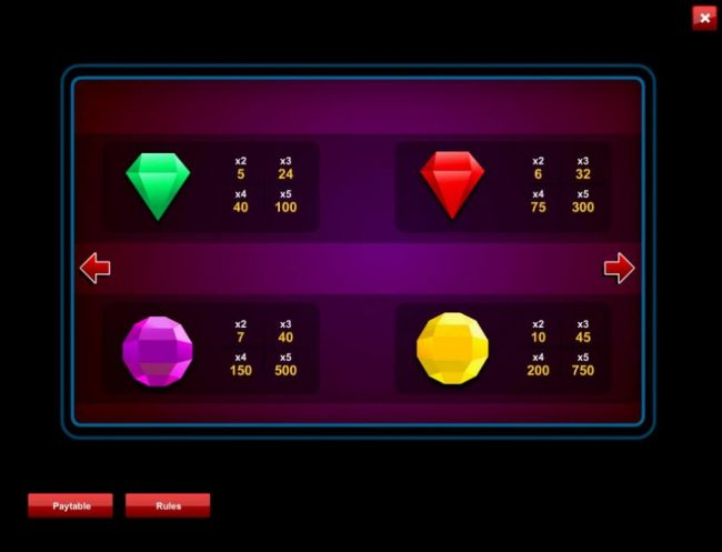 Cosmik featuring the Video Slots Crystalleria with a maximum payout of $1,875