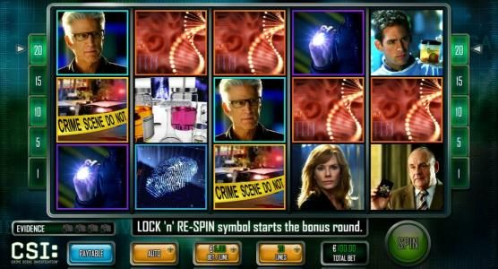 Vegas Baby featuring the Video Slots CSI: Crime Scene Investigation with a maximum payout of $25,000