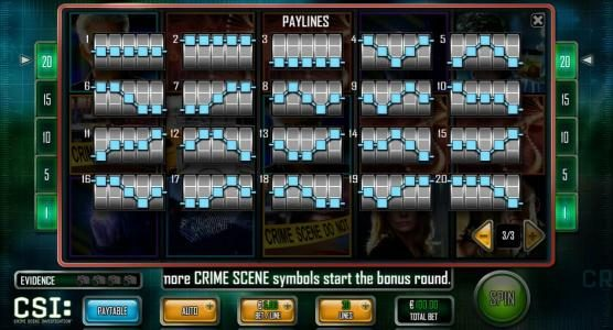 Party Casino featuring the Video Slots CSI: Crime Scene Investigation with a maximum payout of $25,000