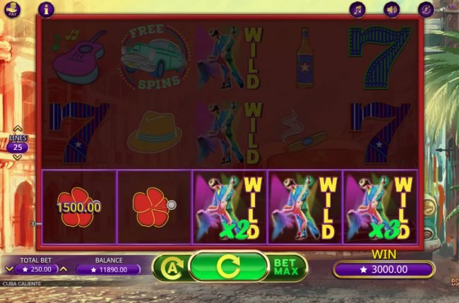 Vegas Crest featuring the Video Slots Cuba Caliente with a maximum payout of $225,000