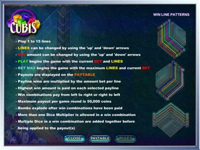 Yoyo featuring the Video Slots Cubis with a maximum payout of 50,000x