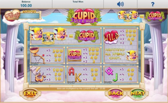 888 Casino featuring the Video Slots Cupid Wild at Heart with a maximum payout of $12,500
