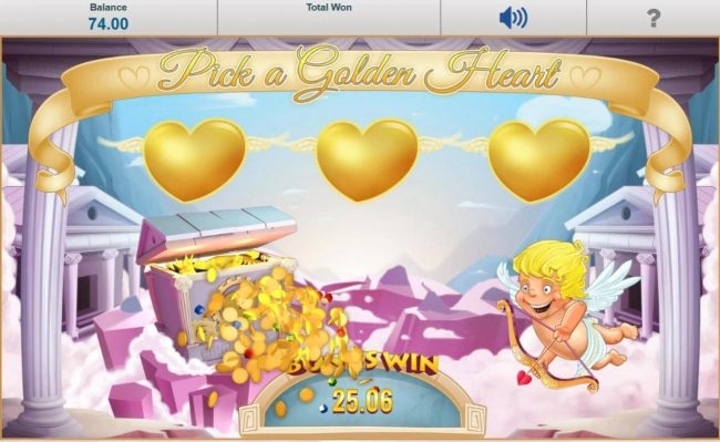 Chomp featuring the Video Slots Cupid Wild at Heart with a maximum payout of $12,500