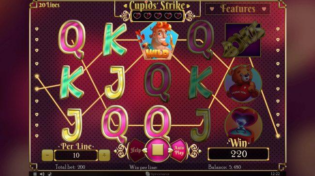 Cupids' Strike :: Multiple winning paylines