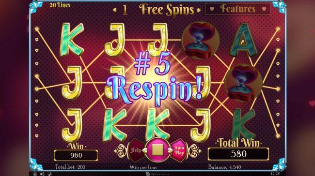 Cupids' Strike :: Multiple winning paylines triggers a big win