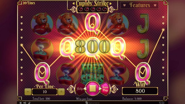 Cupids' Strike :: A winning five of a kind