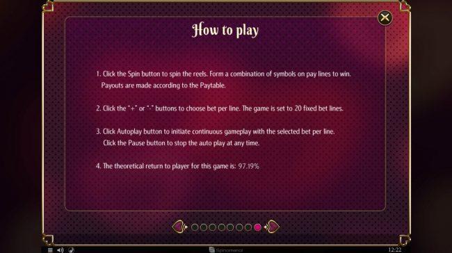 Cupids' Strike :: General Game Rules