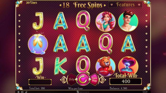 Cupids' Strike :: Free Spins Game Board