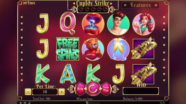 Cupids' Strike :: Main Game Board