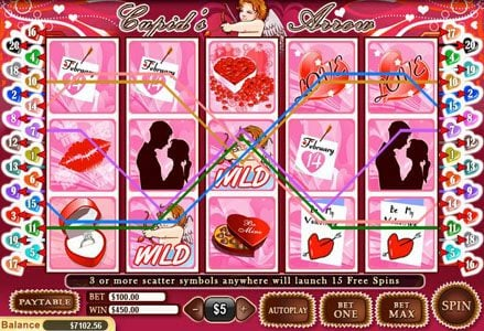 Play slots at Intertops Classic: Intertops Classic featuring the Video Slots Cupid's Arrow with a maximum payout of $100,000