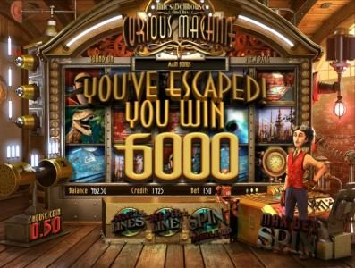 Supreme Play featuring the Video Slots Curious Machine with a maximum payout of 2500x