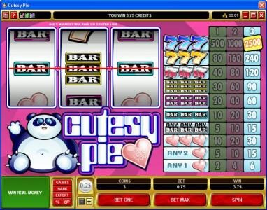 Play slots at Luckland: Luckland featuring the Video Slots Cutesy Pie with a maximum payout of $37,500