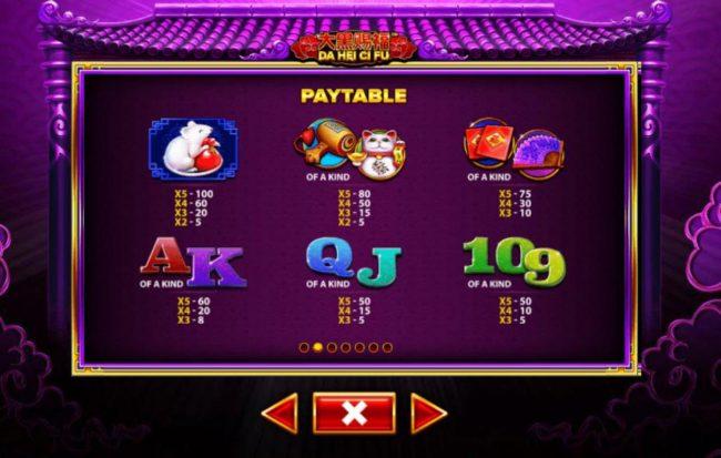 Da Hei Ci Fu :: Paytable