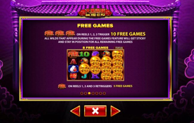 Da Hei Ci Fu :: Free Spins Bonus Game Rules