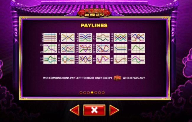 Da Hei Ci Fu :: Paylines 1-50