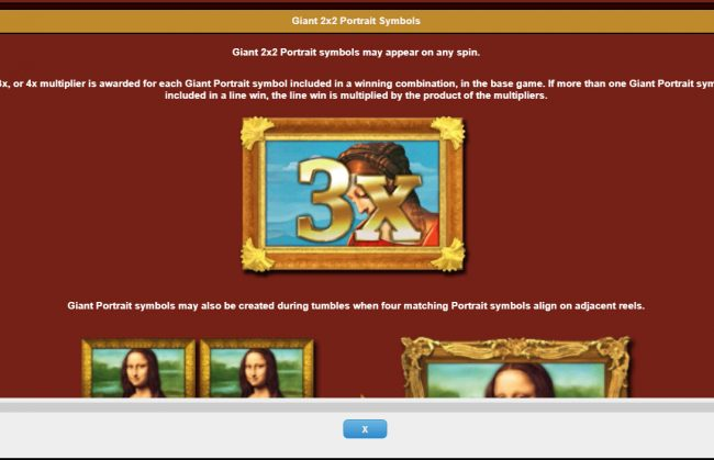 Wild Slots featuring the Video Slots Da Vinci Diamonds Masterworks with a maximum payout of $25,000,000